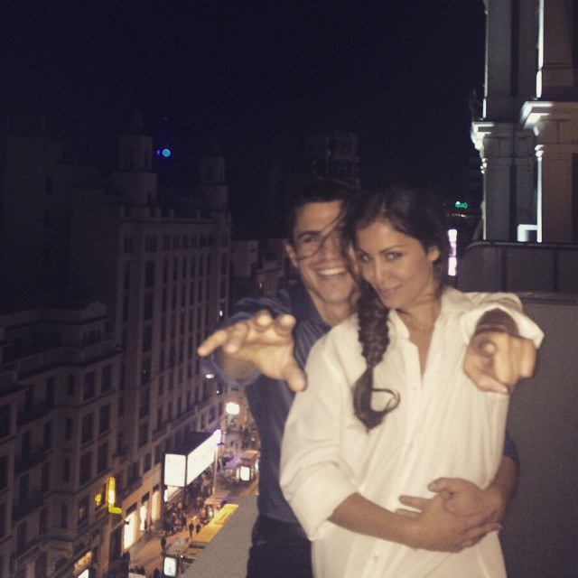 Alex González e Hiba Abouk - Instagram