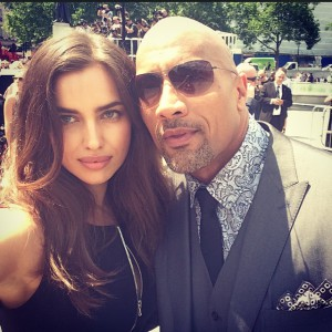 Irina Shayk y Dwayne Johnson - Instagram